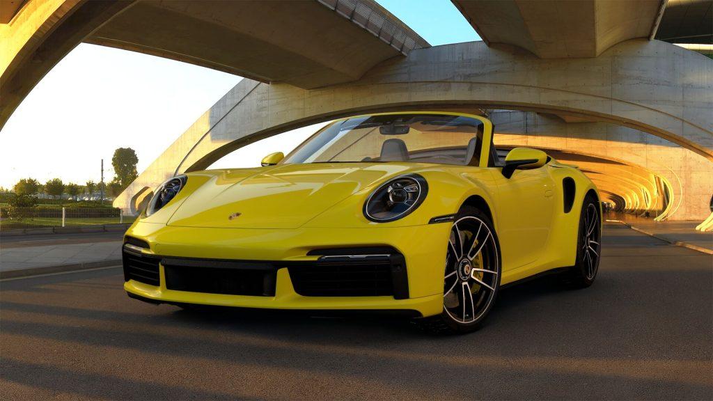 2021 Porsche 911 Turbo S Cabriolet in Racing Yellow