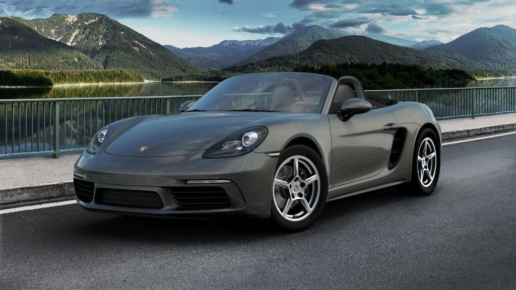 2020 Porsche 718 Boxster in Agate Grey Metallic