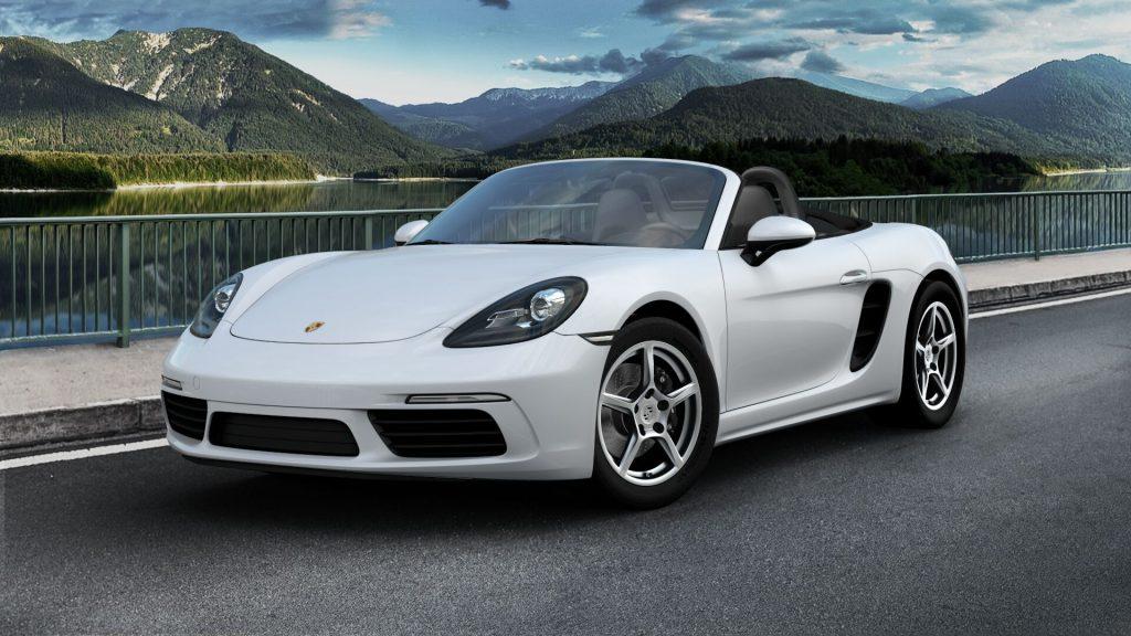 2020 Porsche 718 Boxster in Carrara White Metallic