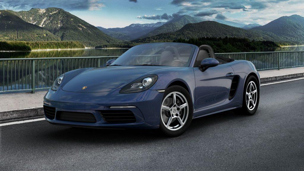 2020 Porsche 718 Boxster in Gentian Blue Metallic