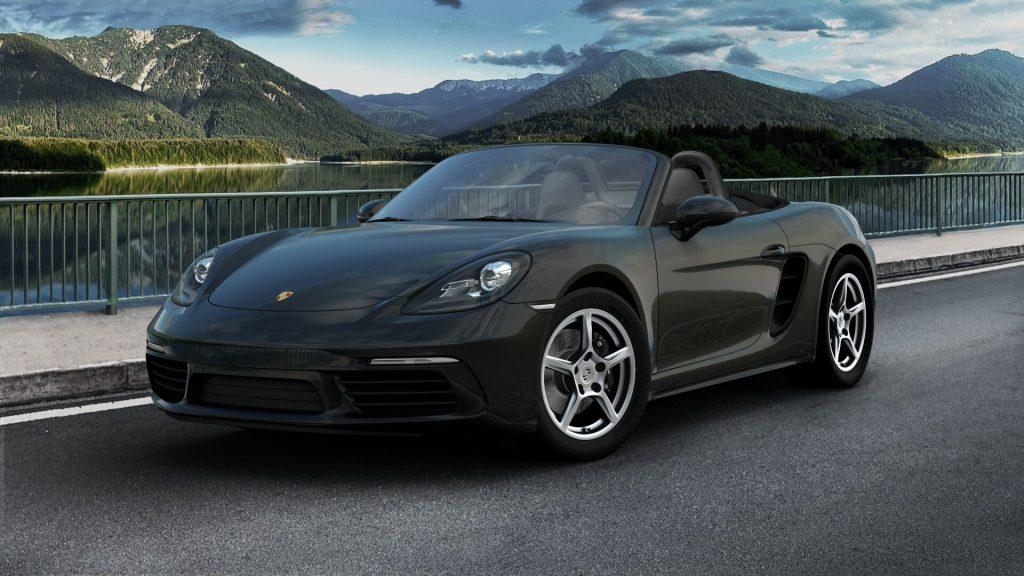 2020 Porsche 718 Boxster in Jet Black Metallic