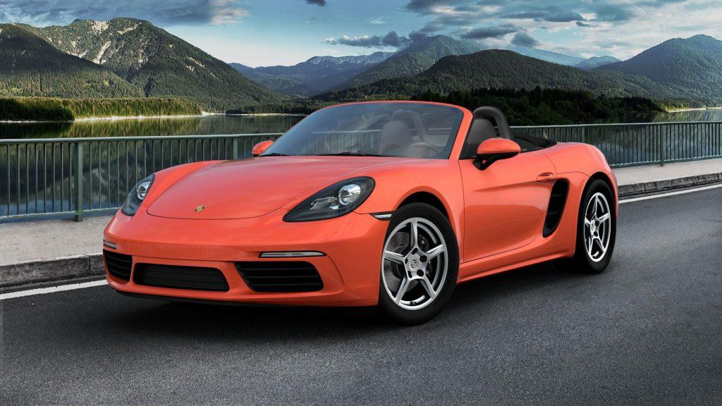 2020 Porsche 718 Boxster in Lava Orange