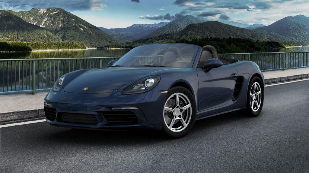 2020 Porsche 718 Boxster in Night Blue Metallic