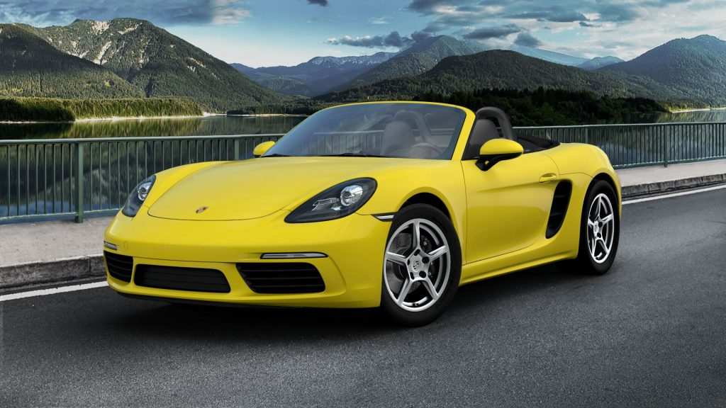 2020 Porsche 718 Boxster in Racing Yellow