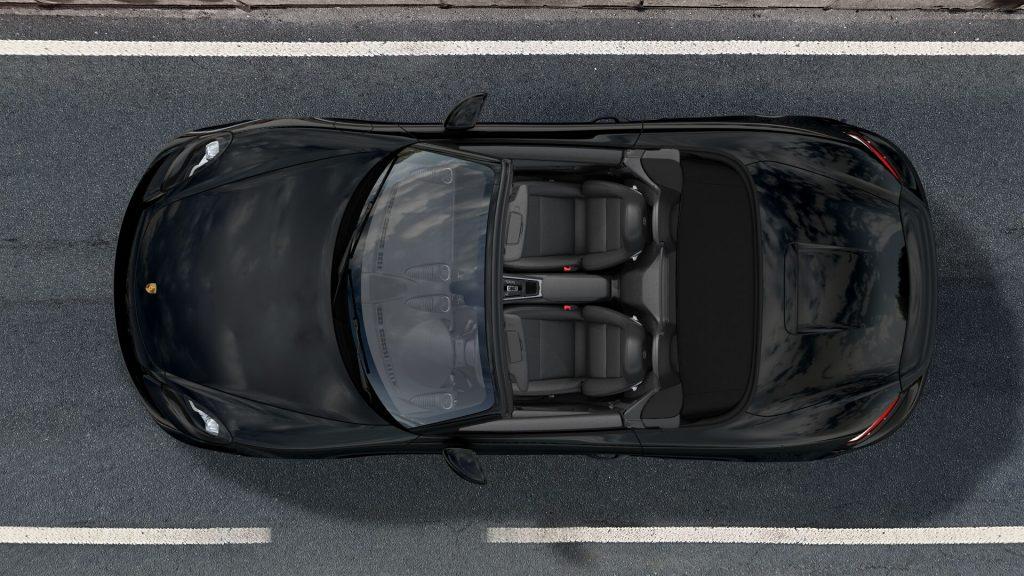 2020 Porsche 718 Boxster roadster top in Black