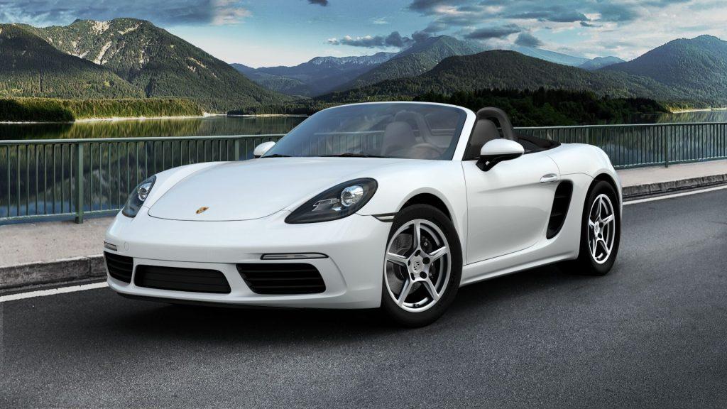 2020 Porsche 718 in Boxster White