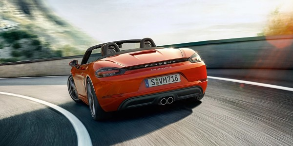 Orange 2020 Porsche 718 Boxster