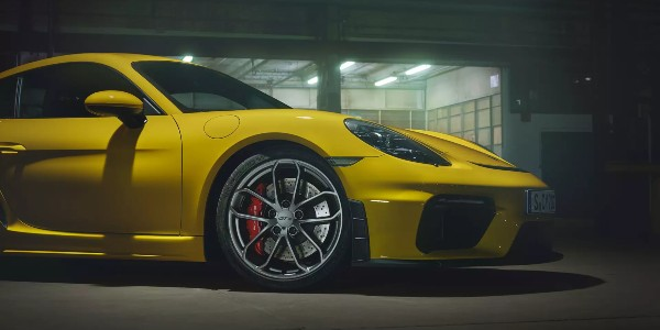 Yellow 2020 Porsche 718 Cayman GT4