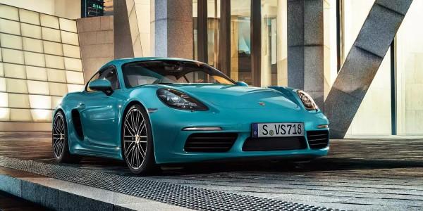 Blue 2020 Porsche 718 Cayman