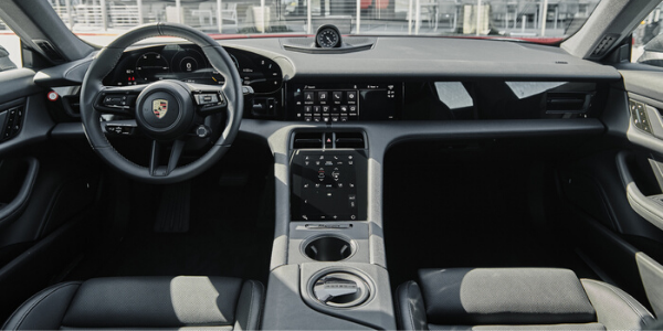 Interior view of 2020 Porsche Taycan 4S