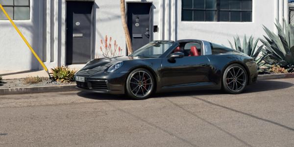 Black 2021 Porsche 911 Targa