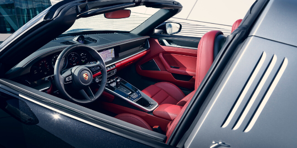 Interior view of 2021 Porsche 911 Targa