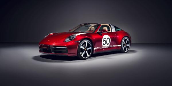 Red 2021 Porsche 911 Targa 4S Heritage Design Edition