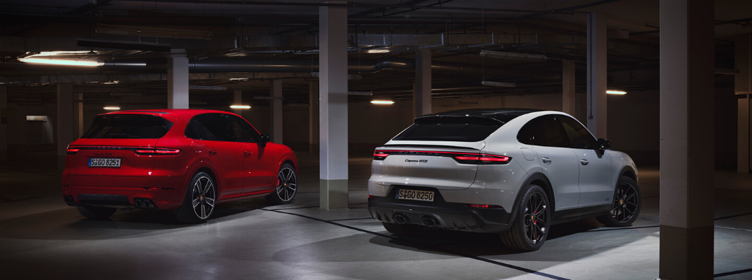 Two 2021 Porsche Cayenne GTS models