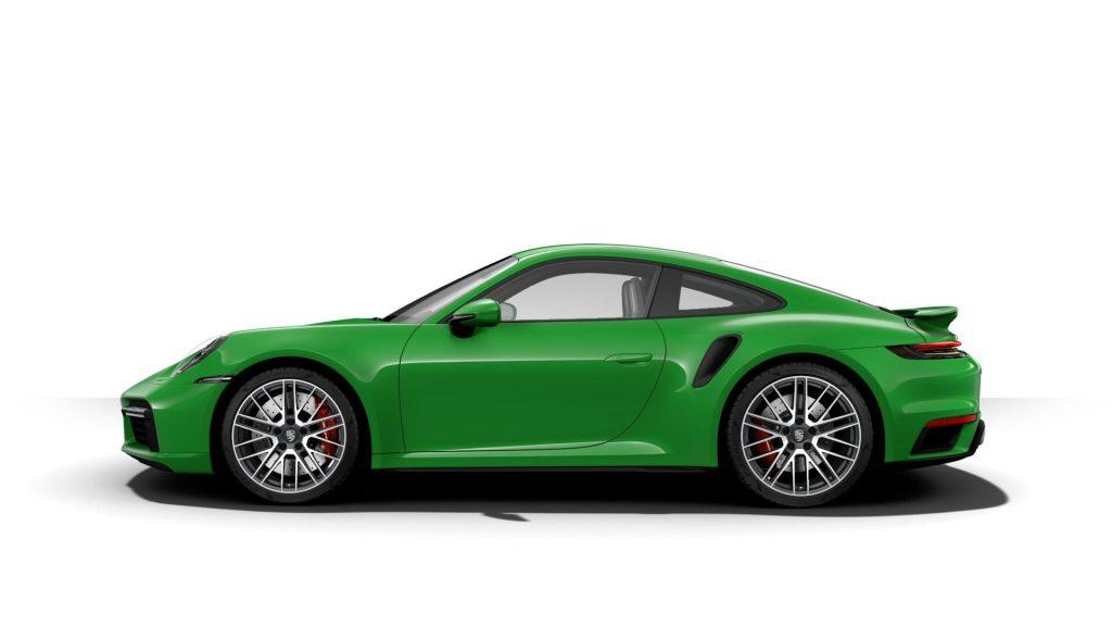 2021 Porsche 911 Turbo in Python Green