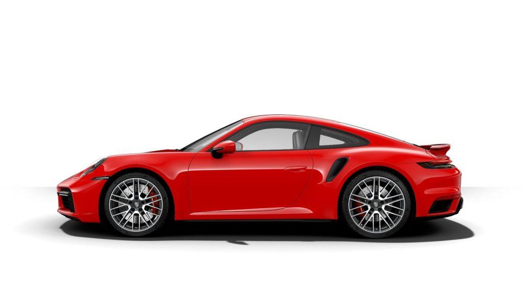 2021 Porsche 911 Turbo in Guards Red