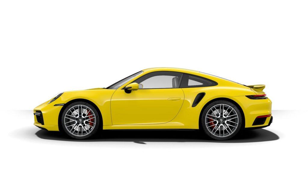 2021 Porsche 911 Turbo in Racing Yellow