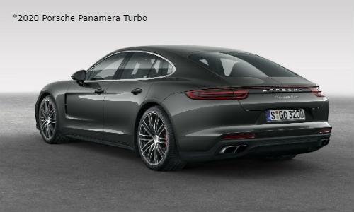 Rear view of 2020 Porsche Panamera Turbo