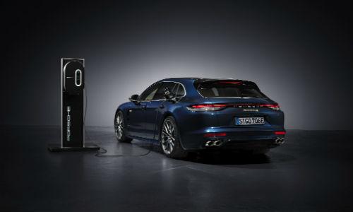 Blue 2021 Porsche Panamera 4S E-Hybrid