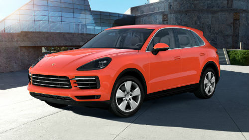 2021 Porsche Cayenne in Lava Orange