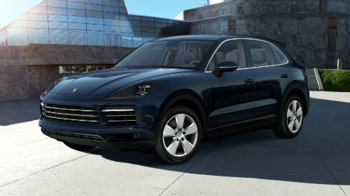 2021 Porsche Cayenne in Moonlight Blue Metallic