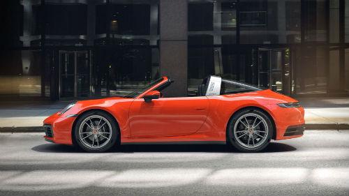 2021 Porsche 911 Targa 4 in Lava Orange
