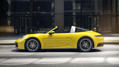 2021 Porsche 911 Targa 4 in Racing Yellow