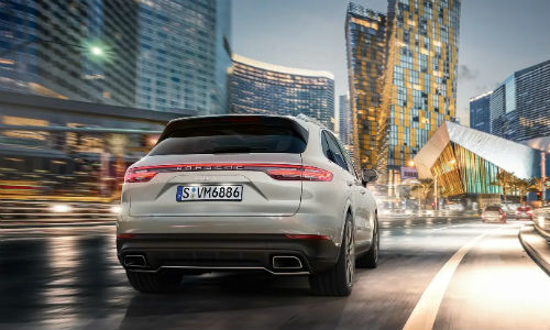 Rear view of 2021 Porsche Cayenne