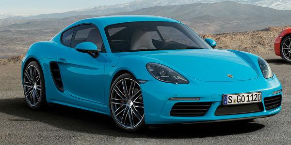 Blue Porsche 718 model
