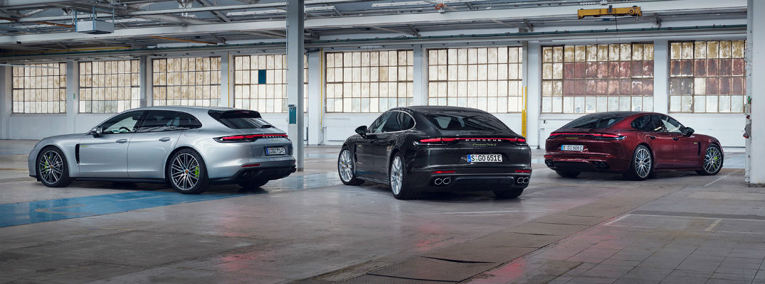 Three Porsche Panamera models