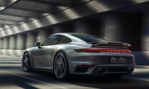 Gray 2021 Porsche 911 Turbo S