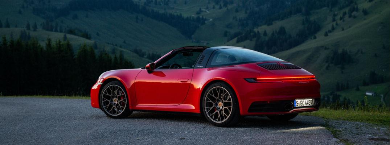Red 2020 Porsche 911
