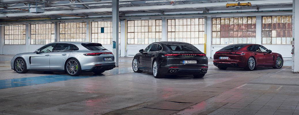 Three 2020 Porsche Panamera models