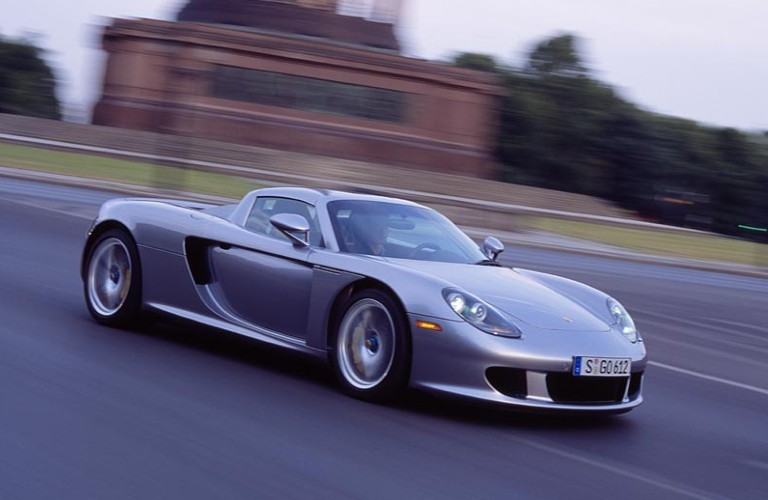 Silver Porsche Carrera GT