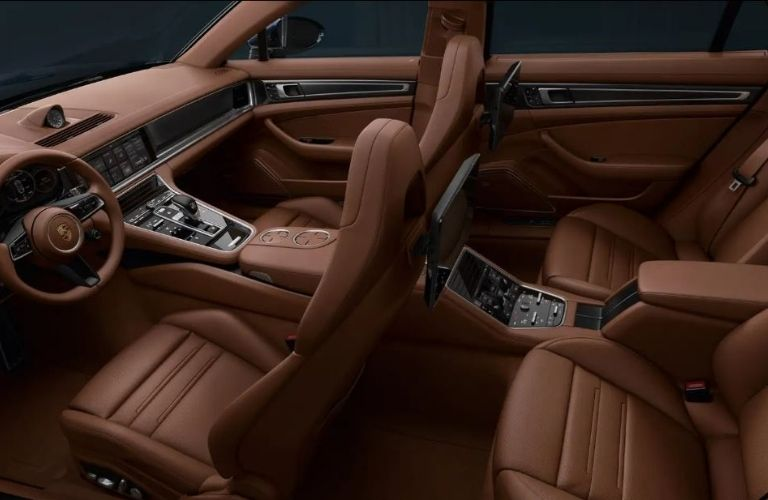 2021 Porsche Panamera Turbo S seats view