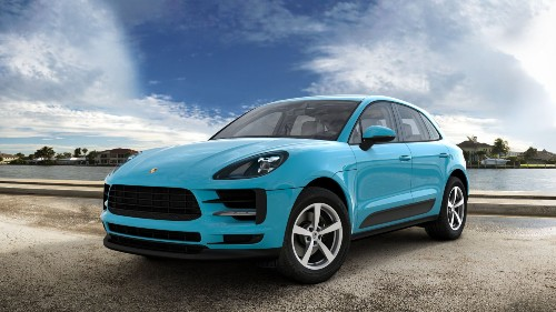 2021 Porsche Macan in Miami Blue