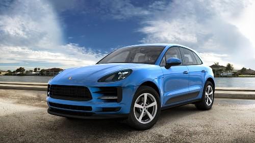 2021 Porsche Macan in Sapphire Blue Metallic