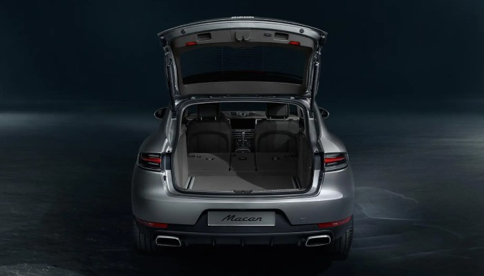 2021 Porsche Macan with its rear liftgate open