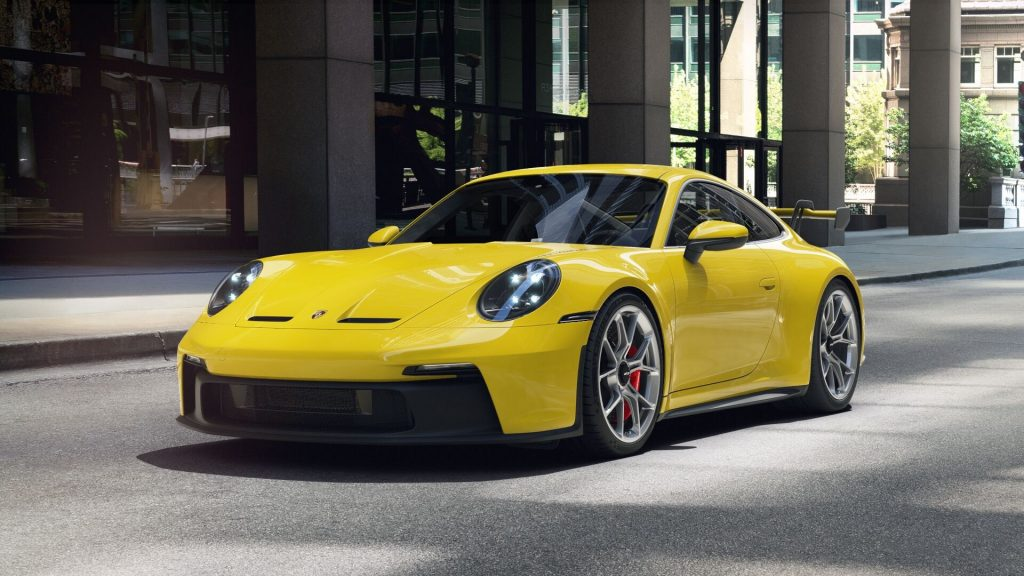 2022 Porsche 911 GT3 in Racing Yellow