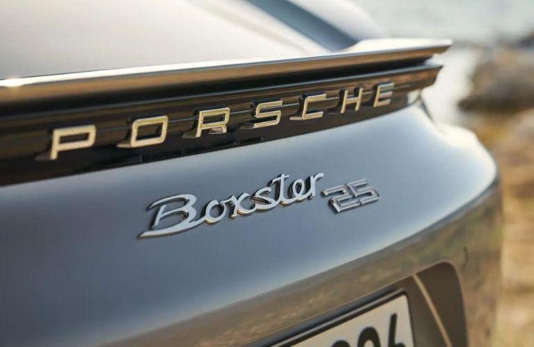 2021 Porsche Boxster 25 Years Rear Logo