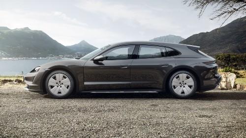 2021 Porsche Taycan Cross Turismo in Volcano Grey Metallic