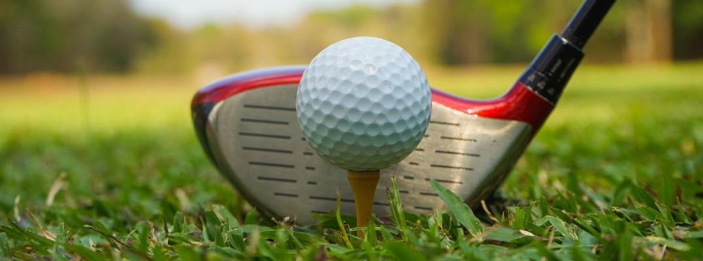 Golf ball and club closeup