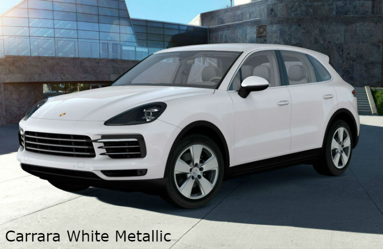 2019 Porsche Cayenne Color Options Porsche Delaware