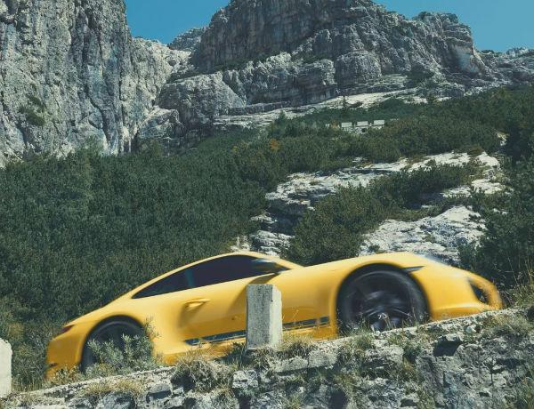 2019 Porsche Carrera 911 T Exterior Yellow Driving Speed