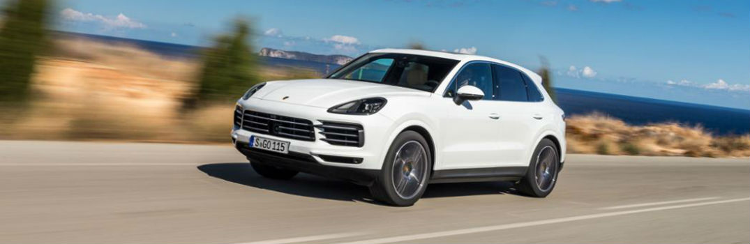 2019 Porsche Cayenne on the road