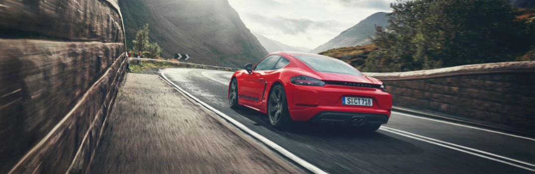 Porsche 718 Cayman on the road