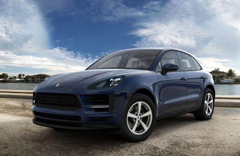 2020 Porsche Macan Night Blue Metallic Exterior Color Option