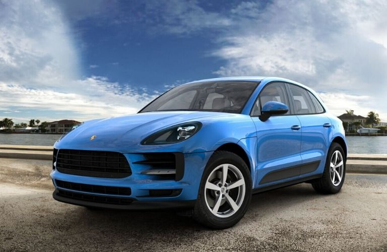 2020 Porsche Macan Sapphire Blue Metallic Exterior Color Option