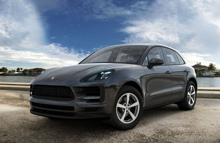 2020 Porsche Macan Volcano Grey Metallic Exterior Color Option