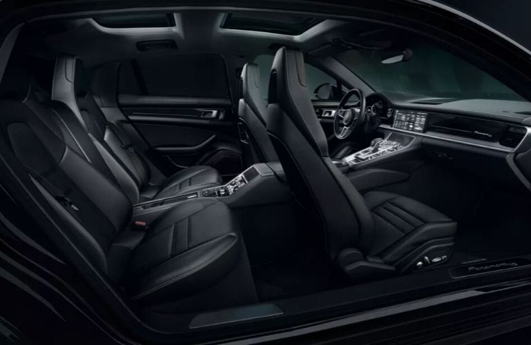 Interior view of the seating inside the 2020 Porsche Panamera